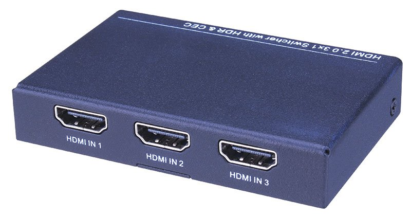 Hdmi 3x1 Switch With Hdr And Cec