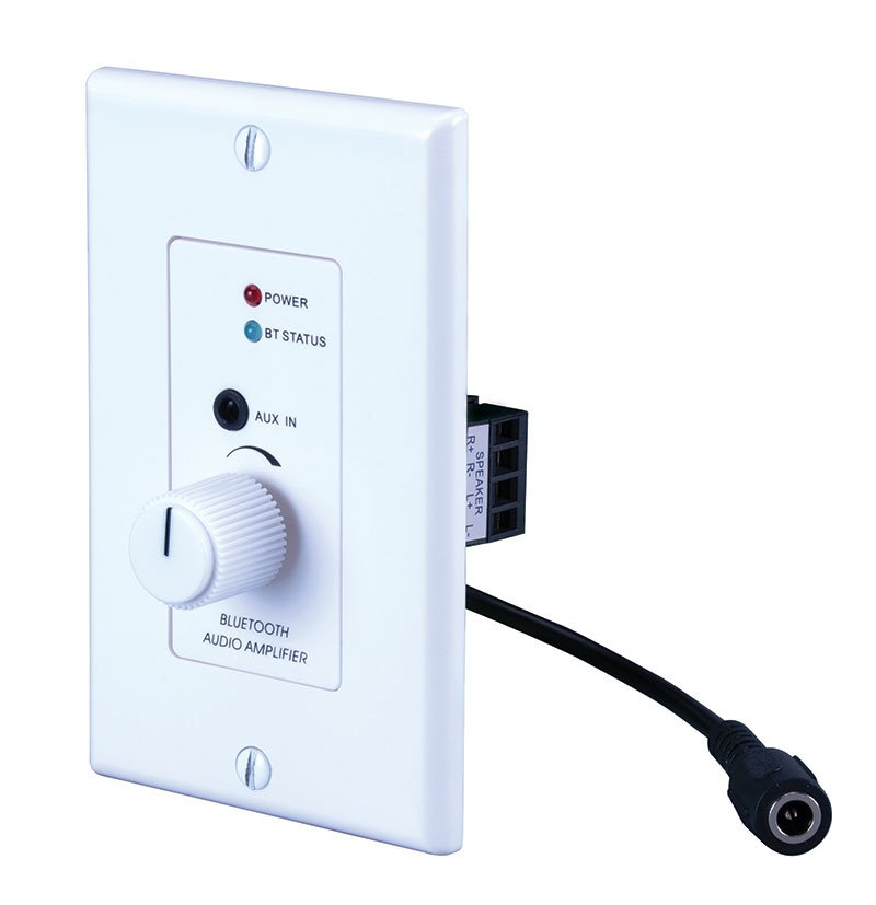 30w, 2 Channel Wall Plate Amplifier With Bluetooth Wireless Technology