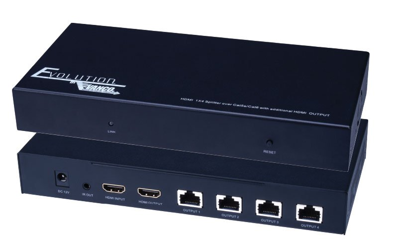 1x4 4k Hdmi Splitter With Utp Ports And Hdmi Pass Through